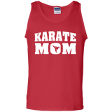Karate Mom t shirt mockup - Style 100% Cotton Tank Top - Color Red