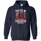Firefighter Retired t shirt mockup - Style G185 Gildan Pullover Hoodie 8 oz. - Color Navy