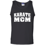 Karate Mom t shirt mockup - Style 100% Cotton Tank Top - Color Black