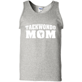 Taekwondo Mom t shirt mockup - Style 100% Cotton Tank Top - Color Ash