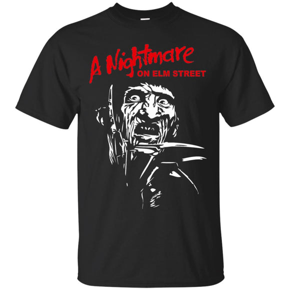 Freddy Krueger Womens t shirt mockup - Style G200 Gildan Ultra Cotton T-Shirt - Color Black
