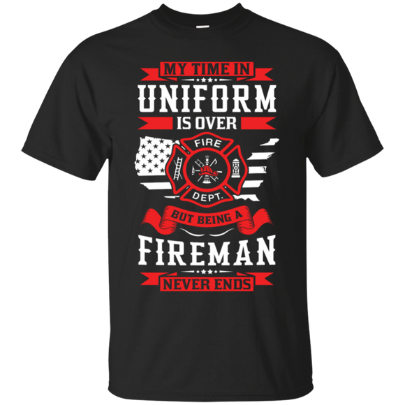 Being A Fire Man t shirt mockup - Style G200 Gildan Ultra Cotton T-Shirt - Color Black
