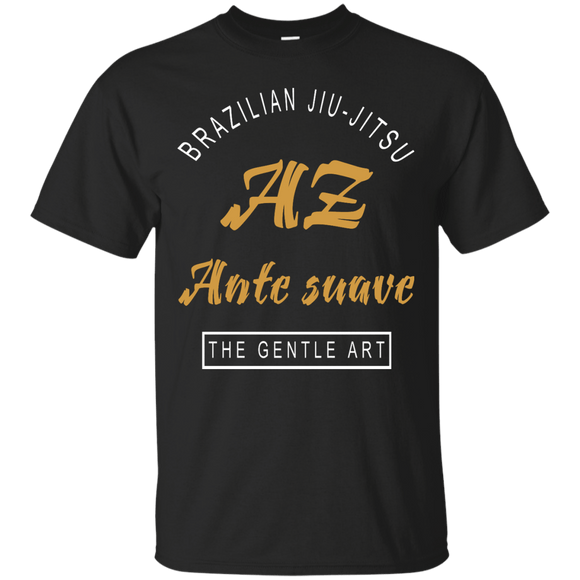 Brazilian Jiu-Jitsu AZ t shirt mockup - Style Custom Ultra Cotton T-Shirt - Color Black