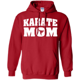 Karate Mom t shirt mockup - Style Pullover Hoodie 8 oz - Color Red