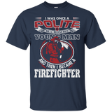 I Became A Firefighter t shirt mockup - Style G200 Gildan Ultra Cotton T-Shirt - Color Navy