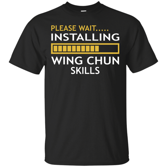Installing Wing Chun Skills t shirt mockup - Style Custom Ultra Cotton T-Shirt - Color Black