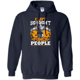 I Lift So I Don't Punch People t shirt mockup - Style G185 Gildan Pullover Hoodie 8 oz. - Color Navy
