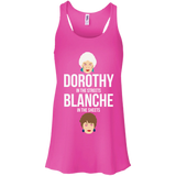 Dorothy In The Streets Blanche In The Sheets t shirt mockup - Style B8800 Bella + Canvas Flowy Racerback Tank - Color Neon Pink