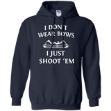 I Just Shoot 'Em - Hunting t shirt mockup - Style Pullover Hoodie 8 oz - Color Navy