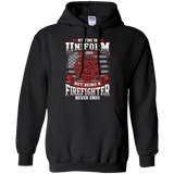 Firefighter Retired t shirt mockup - Style G185 Gildan Pullover Hoodie 8 oz. - Color Black