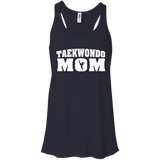 Taekwondo Mom t shirt mockup - Style Bella+Canvas Flowy Racerback Tank - Color Midnight