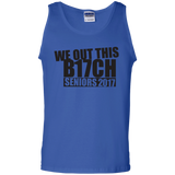 We Out This B17ch t shirt mockup - Style G220 Gildan 100% Cotton Tank Top - Color Royal