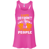 I Lift So I Don't Punch People t shirt mockup - Style B8800 Bella + Canvas Flowy Racerback Tank - Color Neon Pink