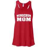 Wing Chun Mom t shirt mockup - Style Bella+Canvas Flowy Racerback Tank - Color Red