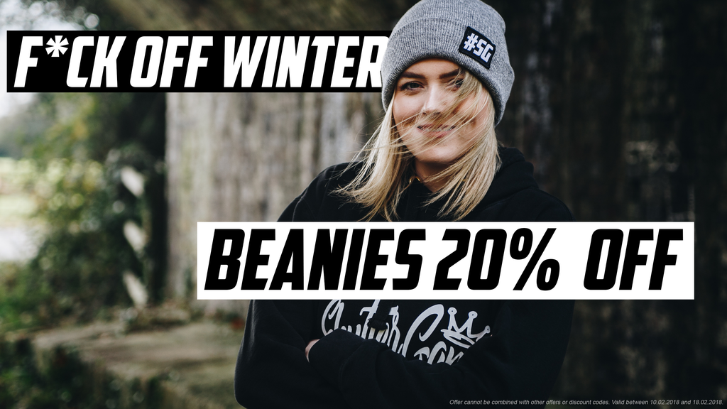 F*CK OFF WINTER - SG Beanies sale!
