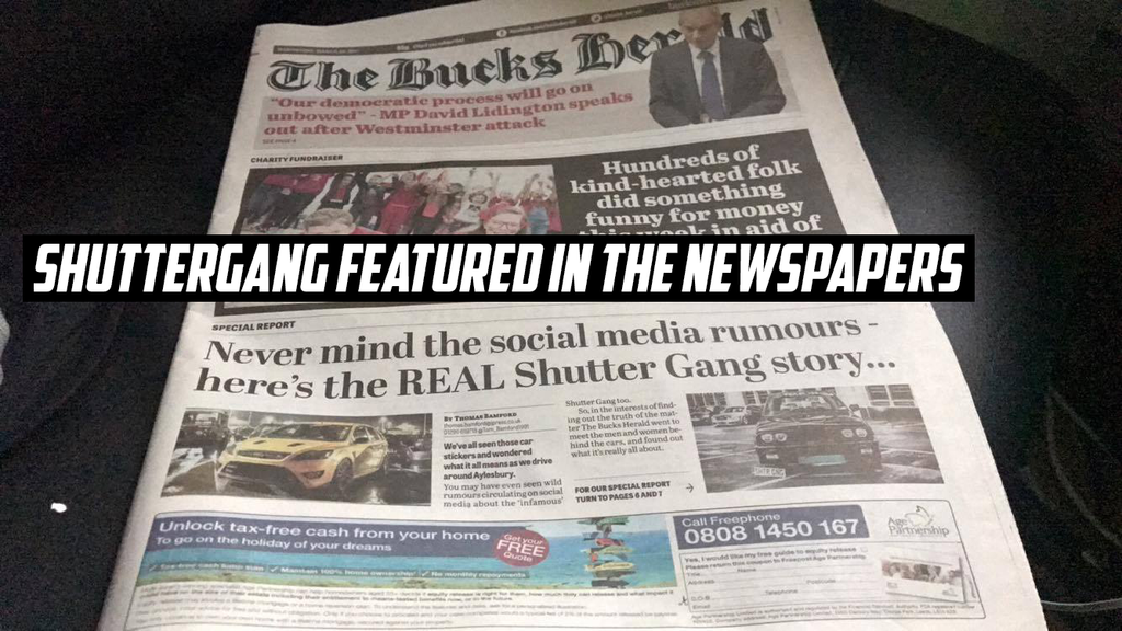 SHUTTERGANG lands on the front page!
