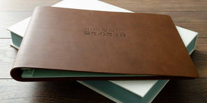 leather is the third anniversary gift this is a custom made leather wedding album to celebrate the date