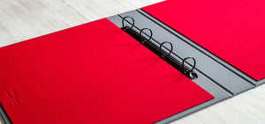 a3 presentation portfolio ring binder in flip over format