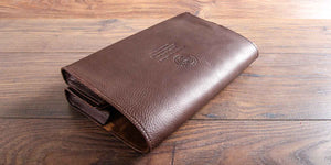 personalised leather document wallet for austin healey sprite
