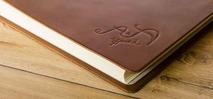 custom leather wedding album