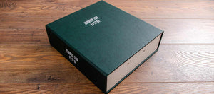 Set of Bespoke Binders & Clamshell Document Box for Historic F1 Car