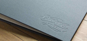 graphic design presentation portfolio book custom made with embossed logo a3 landscape