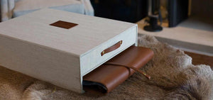 custom bespoke keepsake box for family history with drawer and album