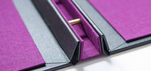 Beautiful Charcoal and Purple Presentation Portfolio
