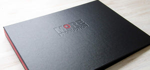 A3 Corporate Presentation Folder for Events Company More Productions