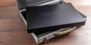 personalised black portfolio print box on aluminium briefcase