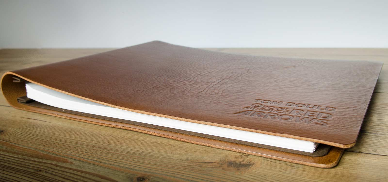 Custom Leather Scrapbook Album For Red Arrows Pilot Hco
