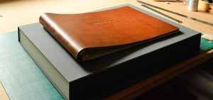 a2 art portfolio box and a3 leather portfolio book