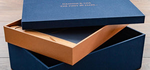 Custom Memory Box in Copper & Blue
