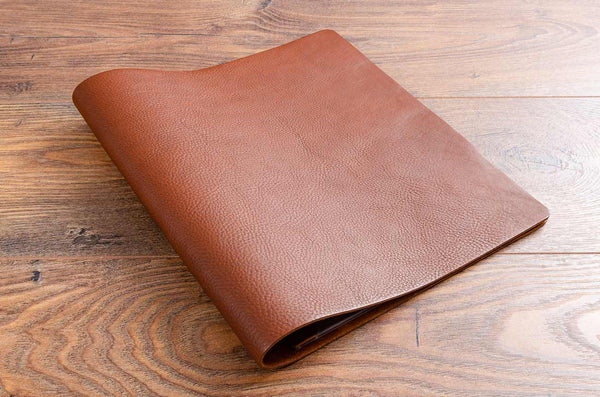 Brown 2.5mm A4 leather menu covers