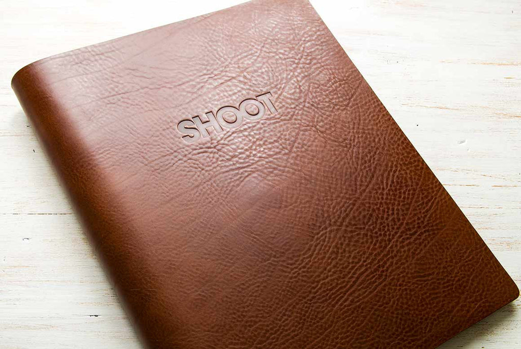 custom leather debossed portfolio book