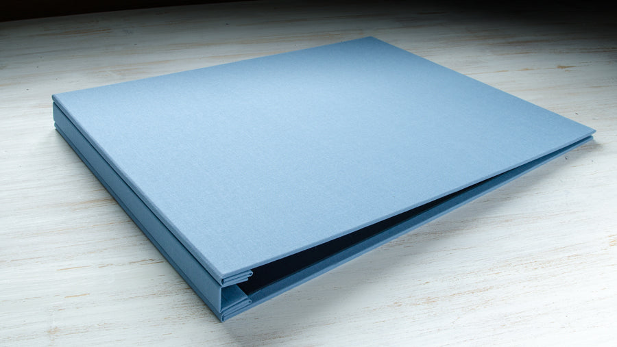 A3 landscape portfolio book in Angle book cloth
