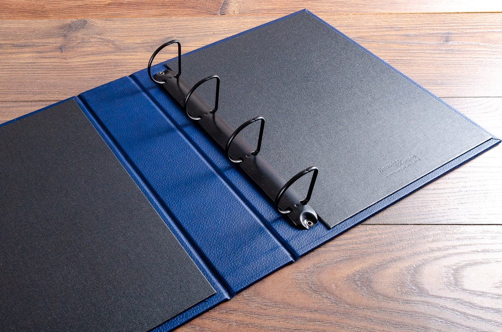 4.5 cm black D ring binder mechanism and black buckram inner cover