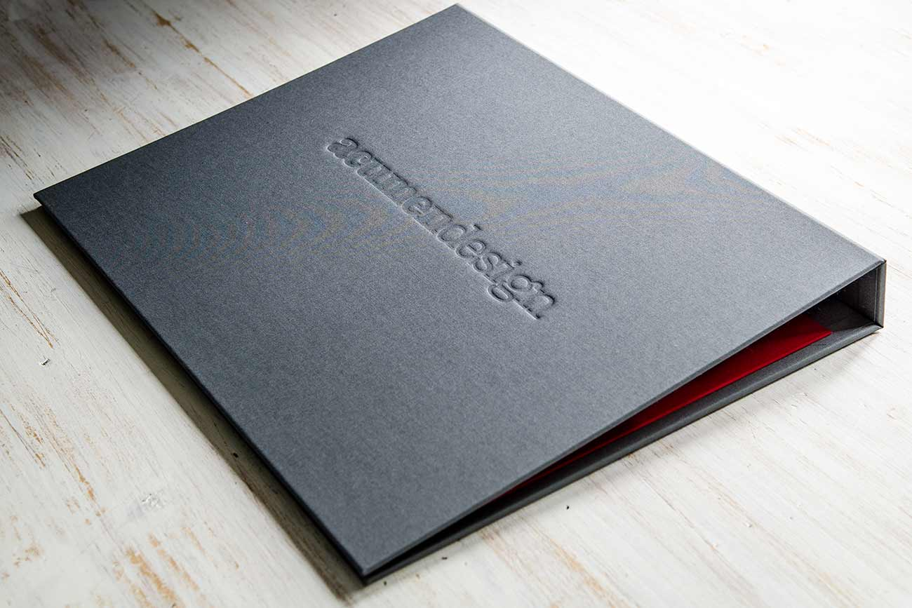 A3 Presentation Display Book for Graphic Design Agency in Flip Over Format