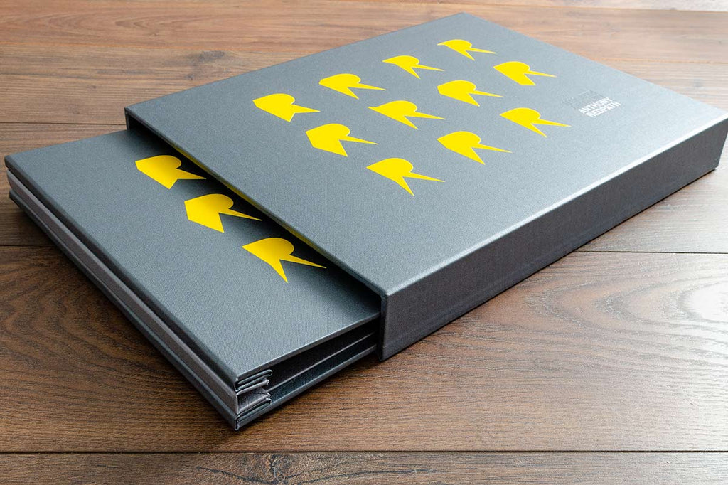 photography portfolio book and portfolio slipcase by Hartnack and co