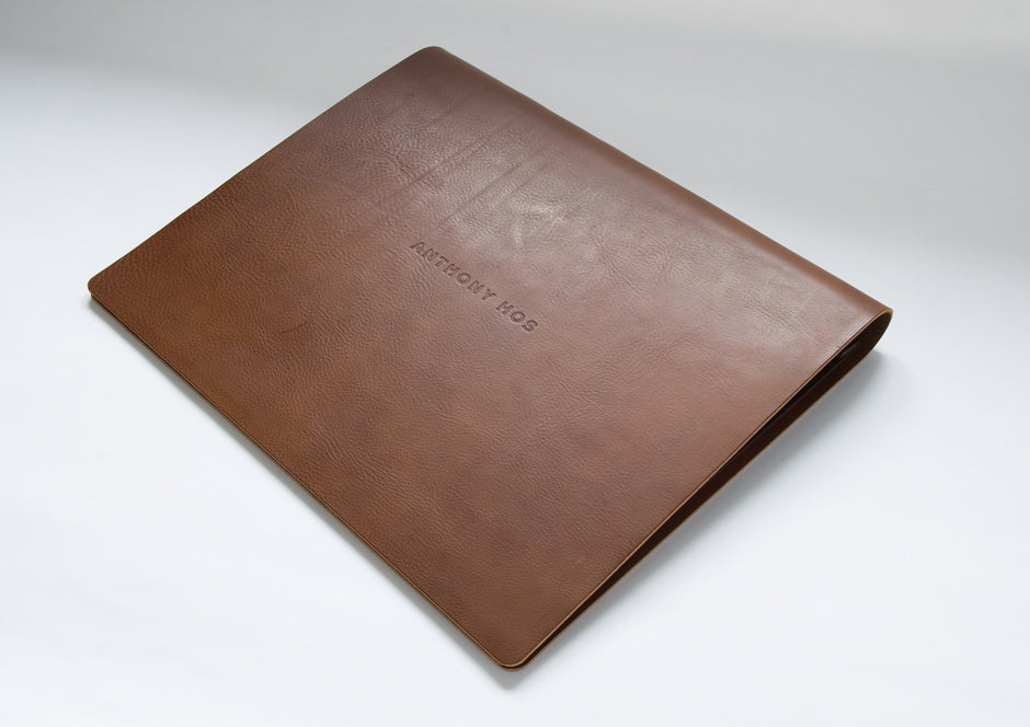 A3 Leather Flip Over Presentation Portfolio book for Typography Designer