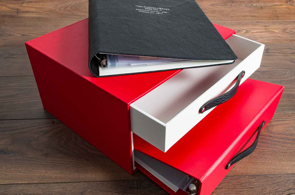 vehicle document folder for classic car