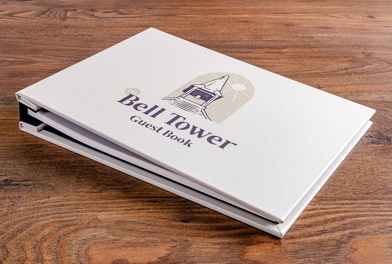 A4 guest book with full colour UV printed cover