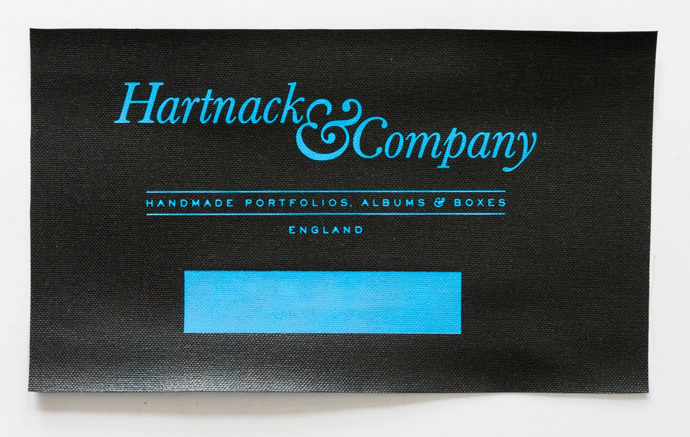 Brillianta Blue HM884 Foil on Black Buckram
