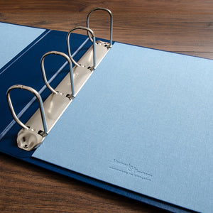 blue medical and surgical ring binder portfolio