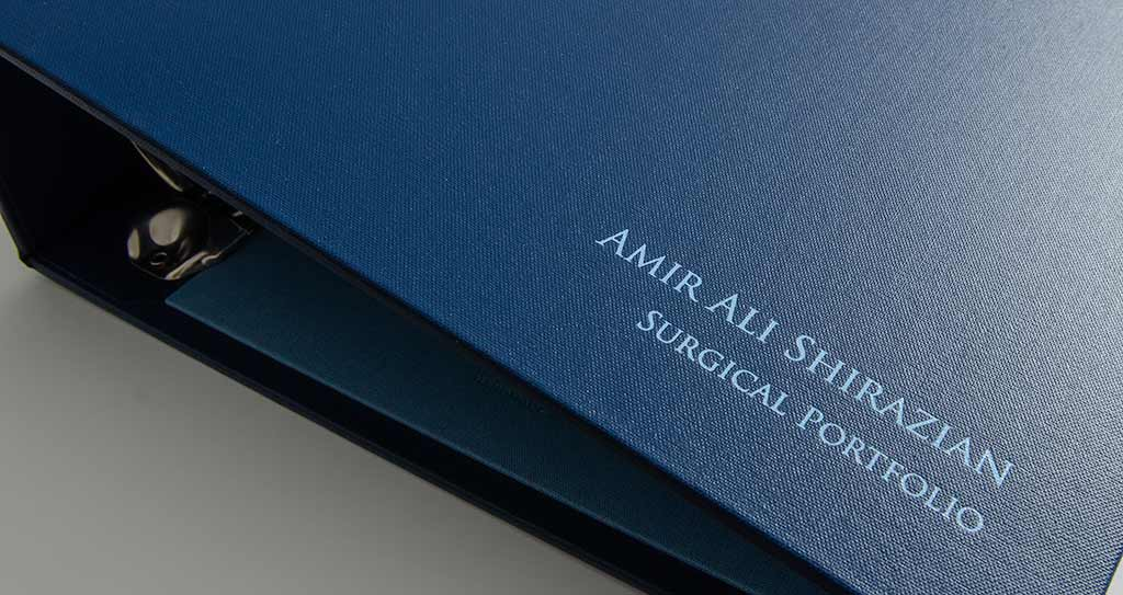 blue foil personalised surgical portfolio