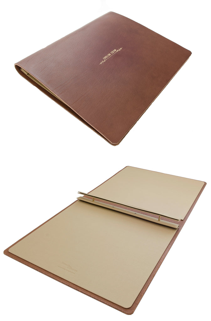 Brown Leather 8.5 x 11 Artists Display Portfolio
