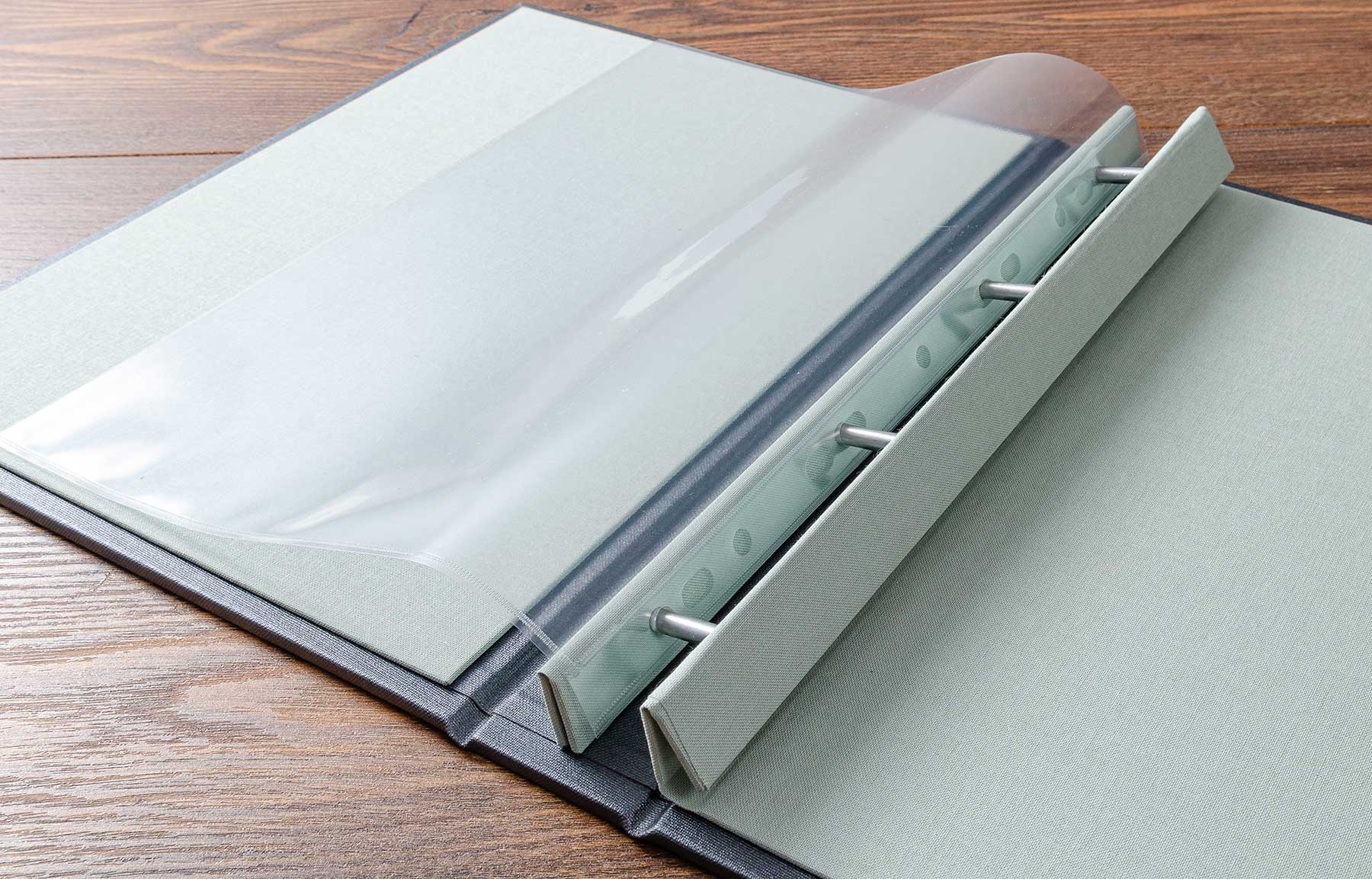 case portfolio book with plastic page protector