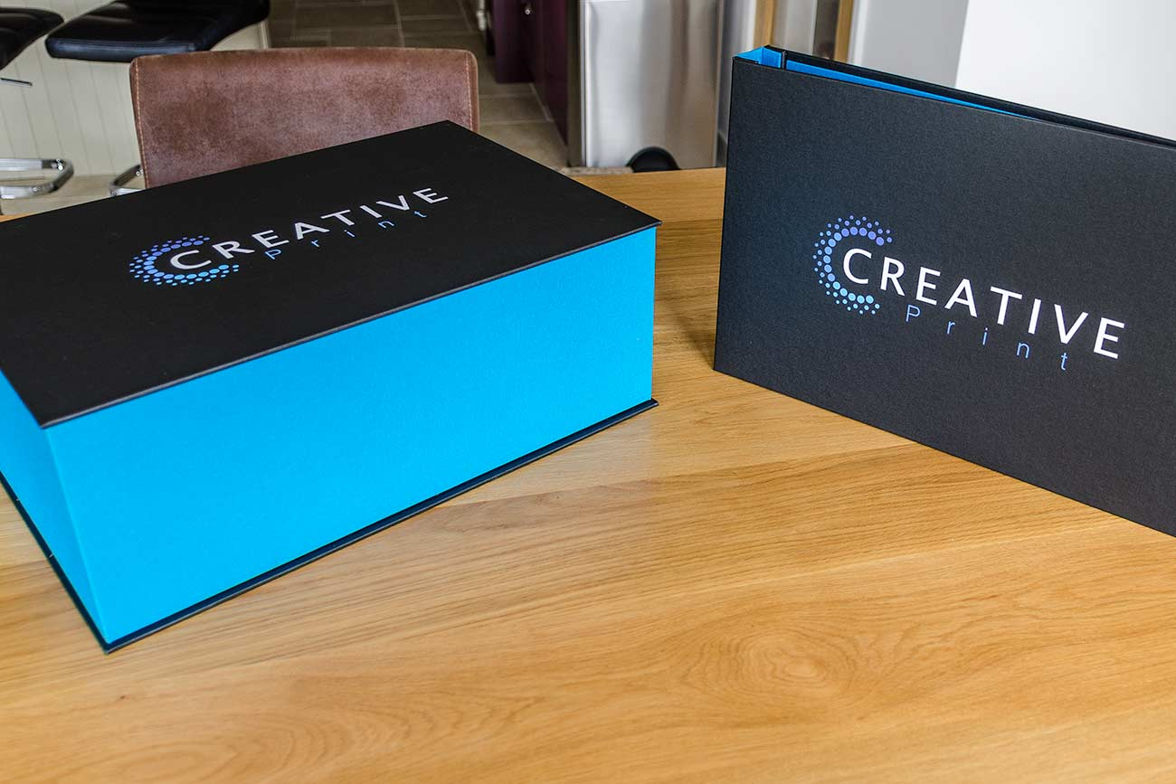 Presentation Portfolio and Clamshell Box