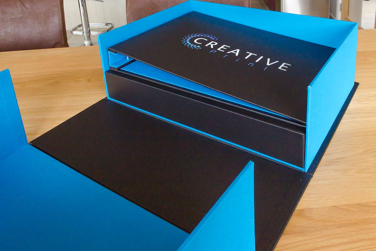 A3 Company Presentation Binder with Bespoke Clamshell Presentation Box
