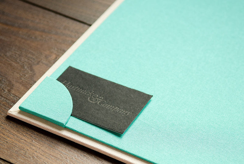 Business Card Pocket in custom H&Co Portfolio